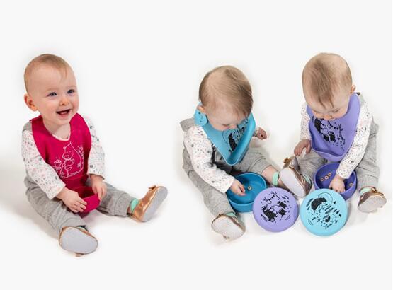 高颜值modern-twist硅胶围兜,让宝宝爱上吃饭